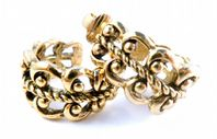Vintage ' French Filigree ' Clip On Earrings By Avon.